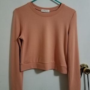 Forever 21 Peach Cropped Pullover